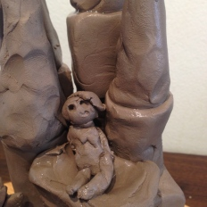 A princess in a castle, clay, 2015